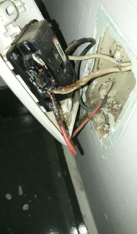 Xử lý ổ cắm bị cháy do chập điện