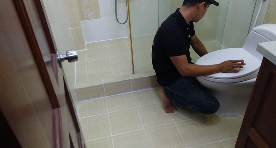 Sau khi tiến hành chống thấm sàn nhà vệ sinh