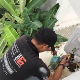 Bơm ga máy lạnh, kiểm tra và bảo trì cục nóng