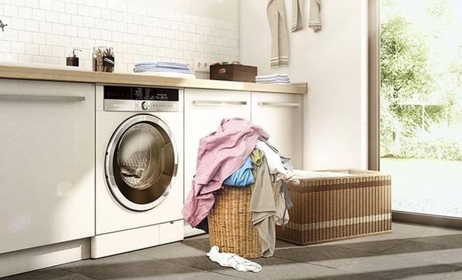 Lót gạch trang trí đẹp cho phòng giặt