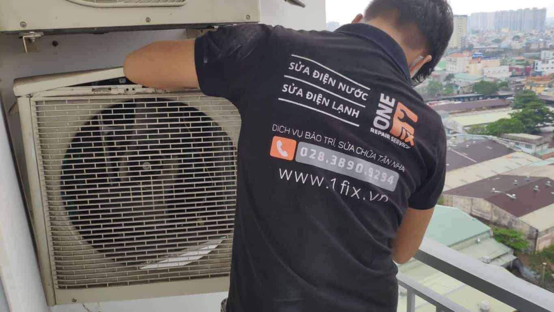 Một trường hợp thợ điện lạnh 1FIX™ thay tụ K3, giúp quạt dàn nóng hoạt động lại.