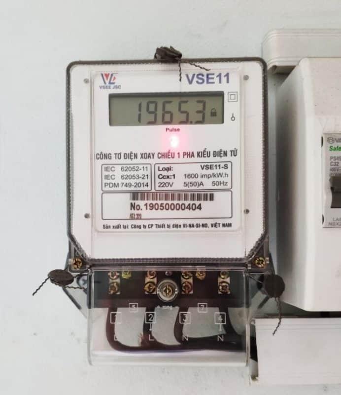 Công tơ điện tử điện xoay chiều 1 pha có kiểm định của EVN