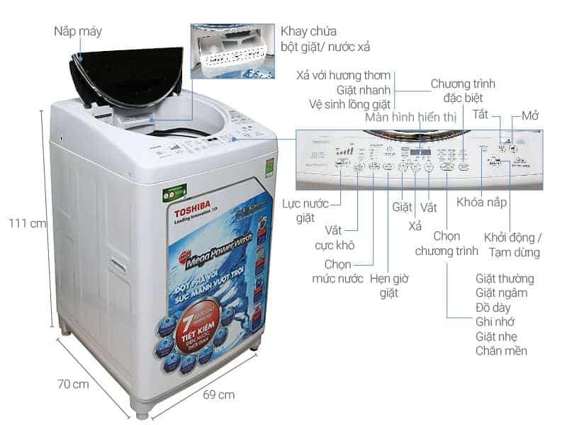 Hướng dẫn cách vệ sinh máy giặt Toshiba và lồng giặt Toshiba