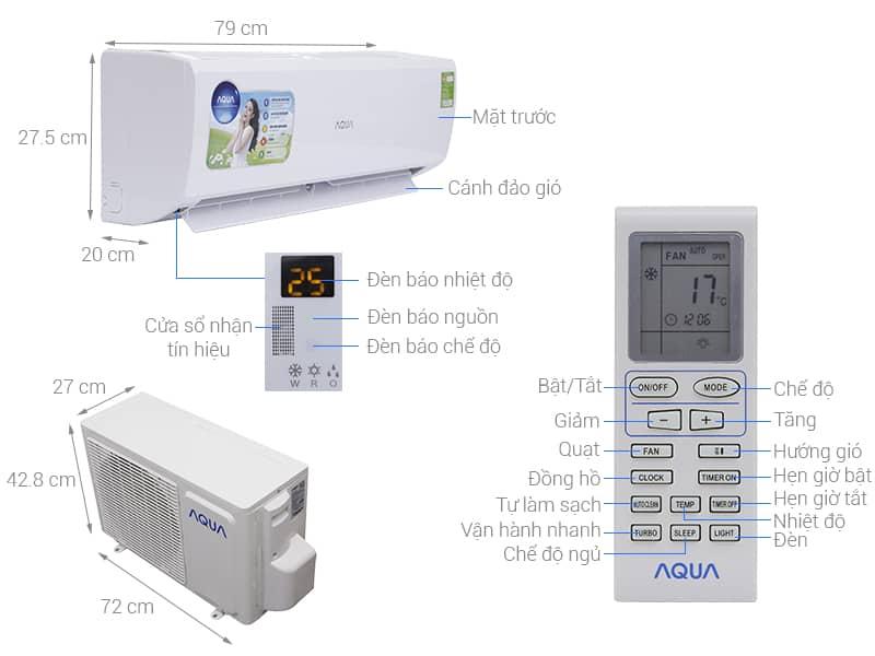 Hướng dẫn sử dụng điều hòa Aqua - cách vệ sinh máy lạnh Aqua