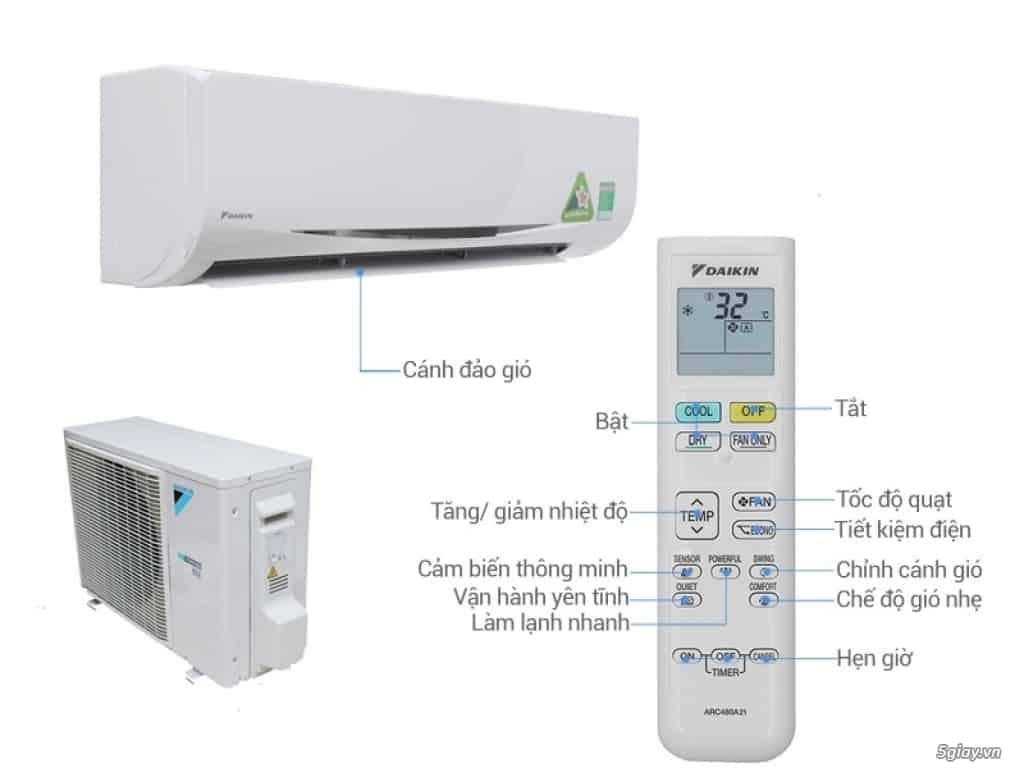 Hướng dẫn sử dụng điều hòa Daikin và vệ sinh máy lạnh Daikin