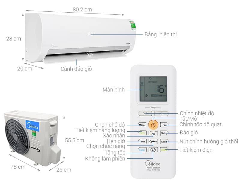 Hướng dẫn sử dụng điều hòa Midea và vệ sinh máy lạnh Midea