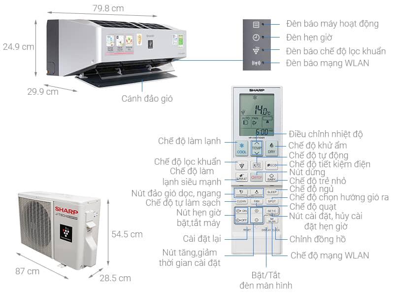 Hướng dẫn sử dụng điều hòa  Sharp và vệ sinh máy lạnh Sharp