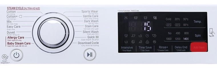 Hướng dẫn sử dụng máy giặt LG cửa trên và máy giặt LG của trước