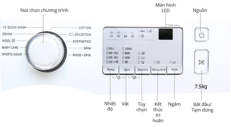 Hướng dẫn sử dụng máy giặt Samsung cửa trên và máy giặt Samsung cửa ngang