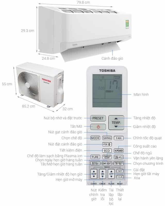 Hướng dẫn sử dụng máy lạnh Toshiba và vệ sinh máy lạnh Toshiba