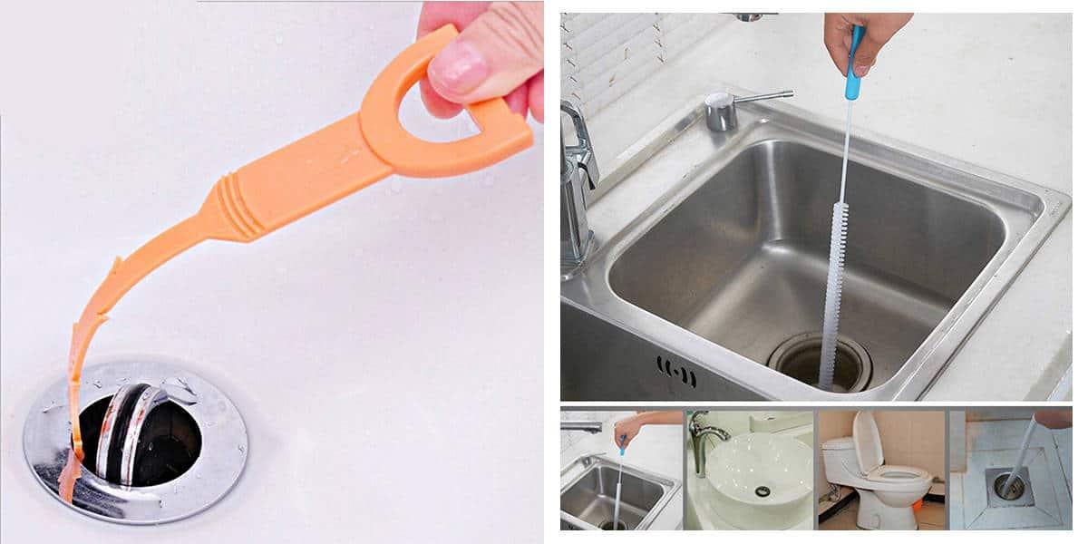 Cây nạo vét thông ống thoát nước bồn rửa mặt
