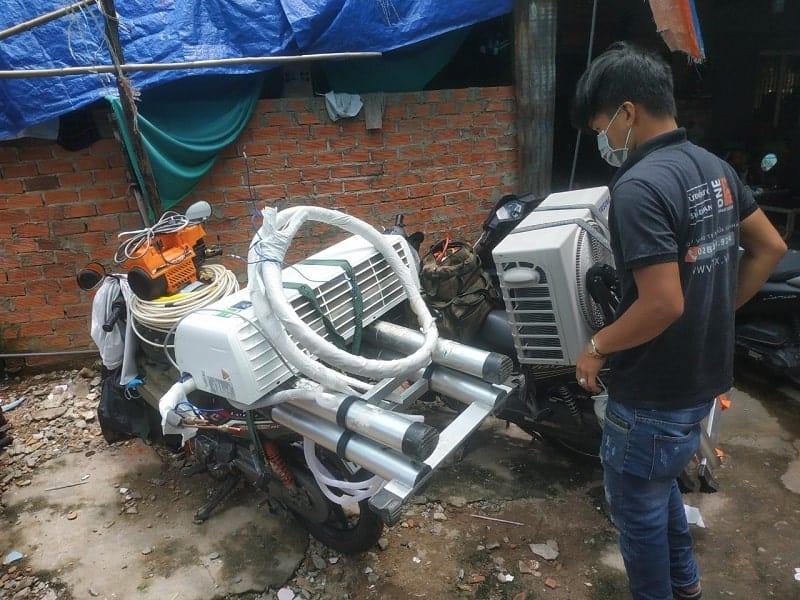 Tháo lắp máy lạnh quận 2 - Thợ lắp đặt máy lạnh quận 2