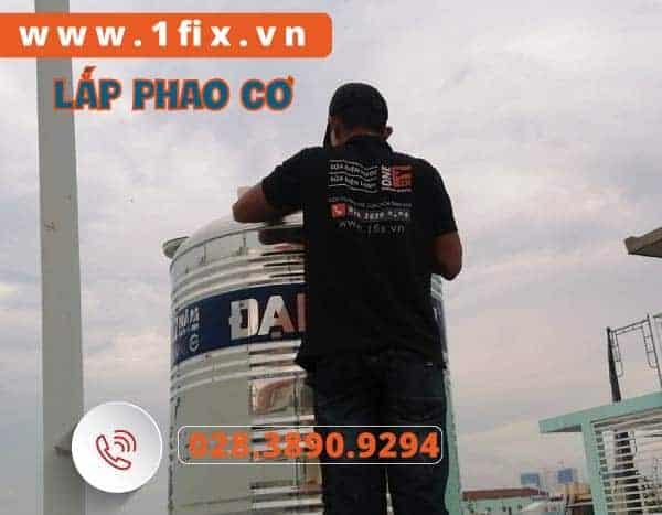 Lắp phao cơ bồn nước Inox
