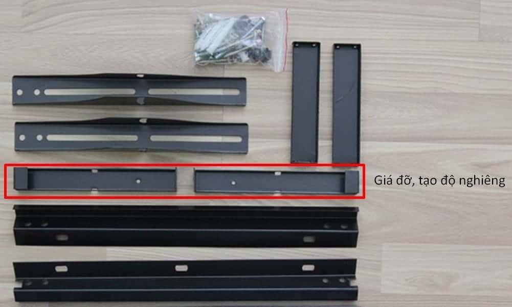 Cách lắp giá treo tivi nghiêng