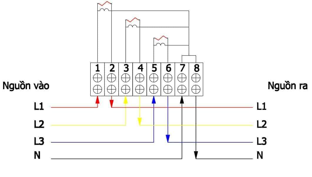 sơ đồ đấu dây công tơ điện 3 pha