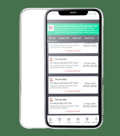 Giới thiệu về app dành cho thợ (người cung cấp dịch vụ)