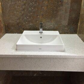 dịch vụ lắp đặt lavabo trên bàn đá