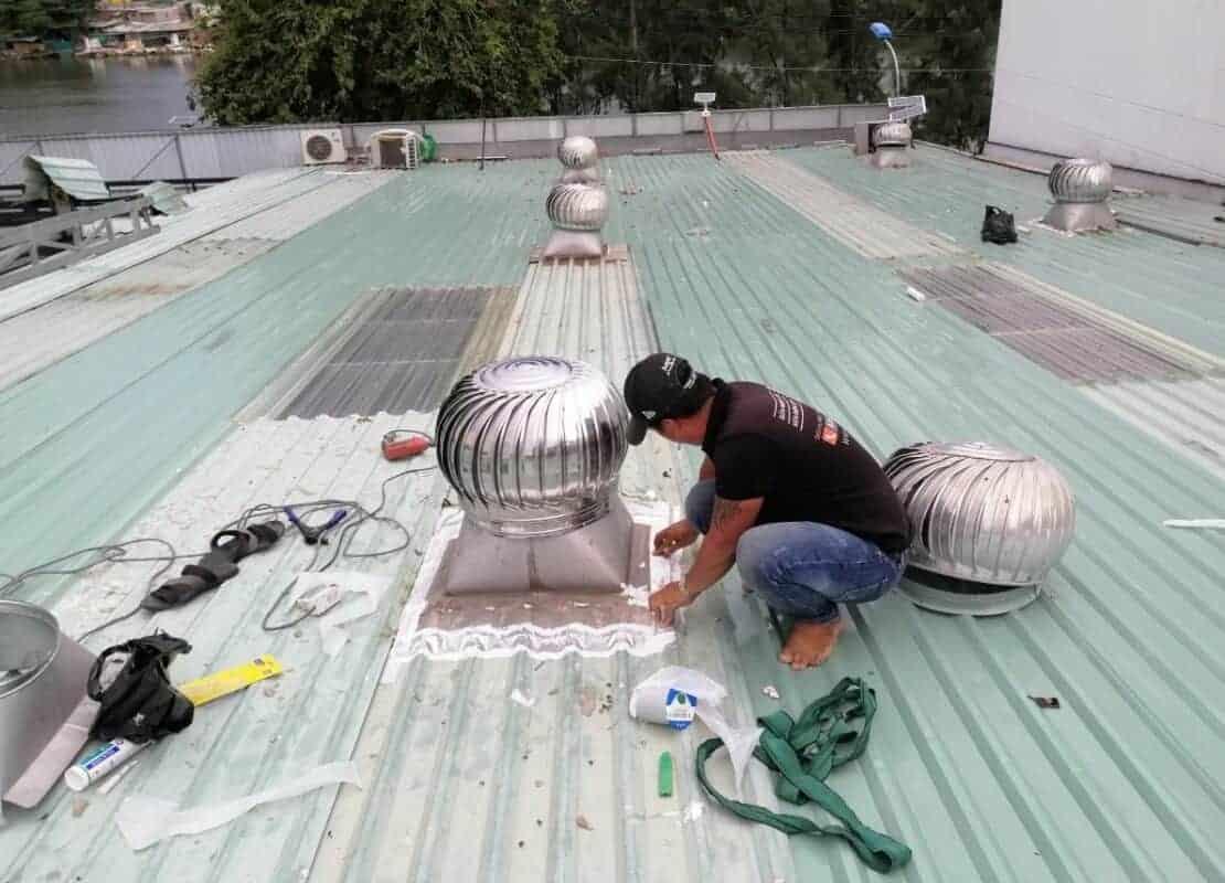 Lắp quạt hút mái nhà - Lắp quạt hút mái Vortex
